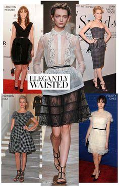 A skinny belt is the ultra-flattering simple accessory. #fashion #trends #harpersbazaar #belts #runway
