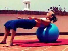 ▶ pilates gym ball workout full version - YouTube