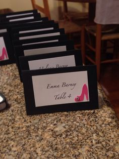 Shoe theme placecards