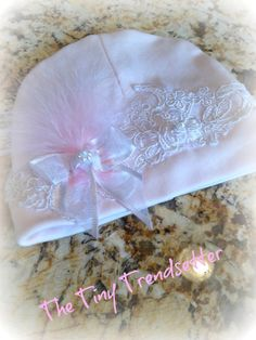 Beautiful Newborn Baby Beanie by TheTinyTrendsetter on Etsy, $18.00