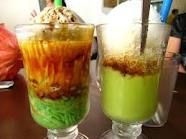 Indonesian sweet drink, on the right side is avocado smoothie