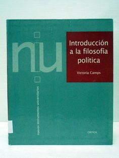 Introducción a la filosofía política. Victoria Camps. Ref.5431