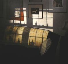 Nick Patten, realist and human-less interior landscapes channeling Vermeer, Hammershoi and Hopper