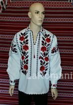 Romanian folk costume for man, handmade Folk Costume, Costumes, Christmas Sweaters, Blouse, Handmade, Men, Fashion, Moda, Hand Made