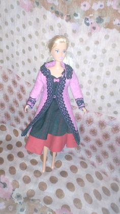 Pink coat with lace, full circle dress