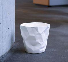 Bin Bin white wastebasket by John Brauer for Essey