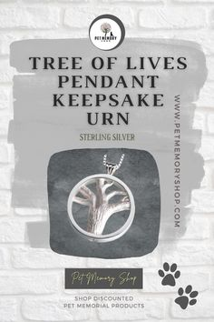 This Tree of Lives Pendant Keepsake Urn is a multi-vessel pendant with four separate chambers. It can be engraved around the edge with a maximum of three characters (engraving not included)