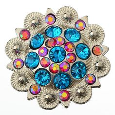 great quality, looks so real wonderful conchos for leather handbags craft works  12 Pieces of Berry Western Cowgirl Bling Rhinestone by Bobo4957, $15.00