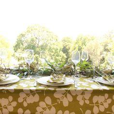 organic tablecloth_gumleaves with xmas SU07_3