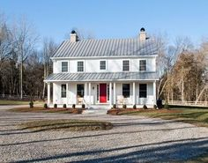 Modular construction has come so far! This house looks 100 years old (in a good way!) Lovely! RawTerre.com New made old again. Ancient Skincare & Beauty Secrets with a Modern Twist. All Natural Skincare. New World Home - Christi Todd Whitman modular home