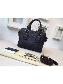 Burberry 39711111 Small Signature Grain Leather Tote Bag In Black