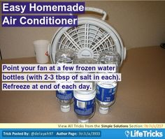 Easy Homemade Air Conditioner