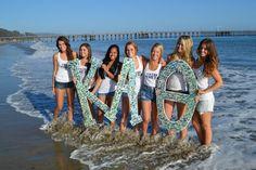 Kappa Alpha Theta letters #KappaAlphaTheta #Theta #letters #beach #sorority
