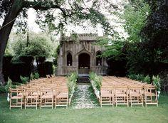 Elegant English Manor Outdoor Wedding via once wed