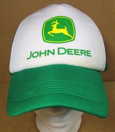 4f21983135f JOHN DEERE Logo Double Row Snapback Mesh Trucker HAT Mens Green Tractor  Farm CAP  JohnDeereHeadtoToe