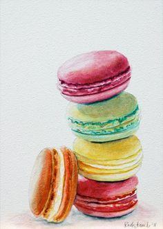watercolor macarons - Google Search