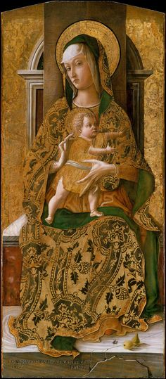 """Madonna & Child Enthroned""  --  1472  --  Carlo Crivelli  --  Metropolitan Museum of Art"