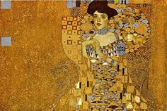 Gustav Klimt - Adele Bloch-Bauer I 1907 Kb); Oil and gold on canvas, 138 x Austrian Gallery, Vienna Adele Bloch-Bauer clasping her hands (she had a deformed finger). Most Expensive Painting, Expensive Art, Art Nouveau, Adele, Art Klimt, Woman In Gold, Art Textile, Marc Chagall, Great Paintings