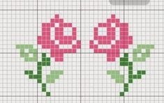 This Pin was discovered by Sab Tiny Cross Stitch, Simple Cross Stitch, Cross Stitch Borders, Cross Stitch Flowers, Cross Stitch Designs, Cross Stitching, Cross Stitch Embroidery, Cross Stitch Patterns, Loom Patterns