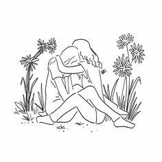 Line Art, Under Your Spell, Lesbian Love, Minimalist Art, Simple Art, Photo Illustration, Erotic Art, Line Drawing, Art Inspo