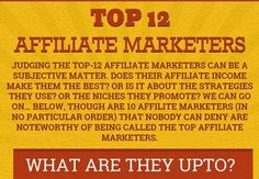 Top 12 Affiliate Marketers around the world [infographic]