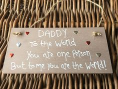 MadeAt94 Personalised Wooden Gifts Plaque for Daddy Brown Dad Grandad: Amazon.co.uk: Kitchen & Home Birthday Gift For Him, Unique Birthday Gifts, Boy Birthday, Happy Birthday, Wooden Gifts, Wall Plaques, As You Like, Keep It Cleaner, Gifts For Him
