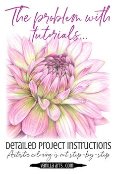Coloring Flowers with Copic Markers Luxury the Danger Of Step by Step Coloring Tutorials — Vanilla Arts Co Coloring Tips, Colouring Pages, Adult Coloring, Colouring Pencils, Colored Pencil Tutorial, Colored Pencil Techniques, Pencil Drawing Tutorials, Pencil Drawings, Drawing Tips