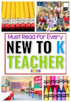 Must Reads for Every New to K Teacher - Sharing Kindergarten