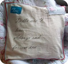 air mail pillow by city girl gone coastal