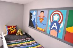 superhero wall mural