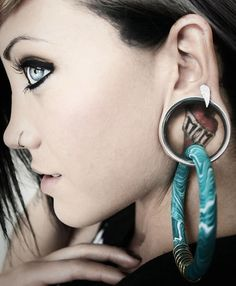 Items Similar To Coil Closure Hoops 0g 00g Earrings For Stretched Lobes Gauges On Etsy