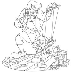 Escuela infantil castillo de Blanca: FICHAS PREESCOLAR-COLOREAR PINOCHO Coloring Pages For Girls, Cartoon Coloring Pages, Disney Coloring Pages, Colouring Pages, Coloring Sheets, Adult Coloring, Coloring Books, Printable Coloring Pages, Looney Tunes Cartoons