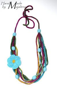 crochet necklace #Majalena