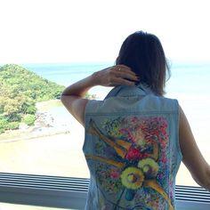 #semprecoleteria♡ #coleteria #doarcodavelha #jeans #pintadoàmão  www.coleteria.com.br