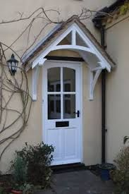 New Front Door Porch Canopy Window Awnings Ideas Front Door Overhang, Front Door Porch, Wooden Front Doors, Front Door Entrance, Timber Door, Front Entrances, House Front, Porch Entry, Entrance Ideas