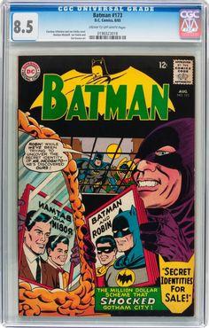 Batman #173;  Issued: August, 1965. Characters: Batman; Robin; Mr. Incognito. Pencils: Carmine Infantino;  Inks: Joe Giella.  www.ephemeritor.com