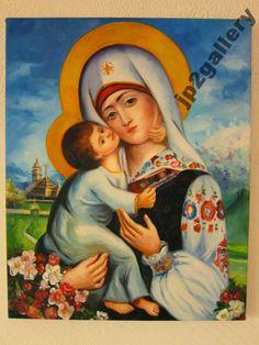 Matka Boża obraz olejny ręcznie malowany 40x50 cm
