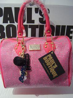 PAULS BOUTIQUE DIAMANTE MOLLY BAG HANDBAG LTD EDITION PINK SOLD OUT 100%  GENUINE 56fad6e74f264