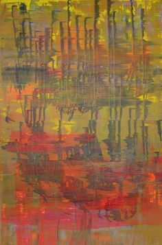 Reflections 48 x 72  Original Acrylic on Gallery Wrapped Canvas By Contemporary Artist Ellen Benfatti