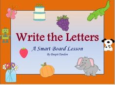 Teach alphabets the smart way! This lesson will help Pre-K and Kindergarten teachers who have smart boards in their classrooms. It's cute, easy, fun, and free. Download it to amaze the little learners.  Also, I would like to give thanks and credit to http://www.mycutegraphics.com for all the clipart used to make this product.