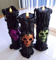 Spooky Candle Skull Set 3 Candles in the set.  These are made with tealight candles.  Skulls colors vary.   https://nemb.ly/p/Bkj56L0r_ Happily published via Nembol