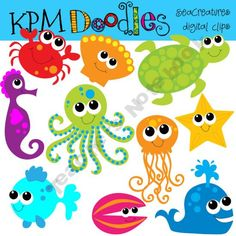 Adorable! Will use if I do an Under the Sea theme for my new SS classroom! kpmdoodles Shop - | Teachers Notebook