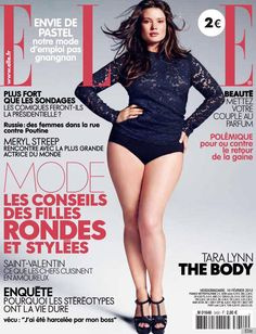 "The French magazine features plus-size model Tara Lynn, who's wearing a lace tee, heels and not much else, on its February cover, and they've dubbed her in bold letters ""The Body.""  No disrespect to Elle M., but we're kind of loving it."