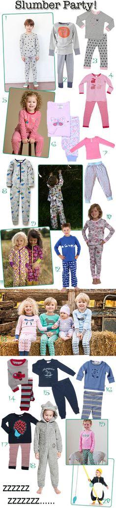KidStyleFile Roundup : Top 20 Kids Pyjamas for Winter 2014