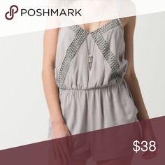 Flirty Romper! Super cute gray romper for day or night! Dresses