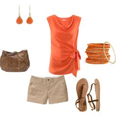 orange & brown, created by mandys120 on Polyvore