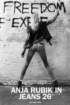 BLK DNM Freedom of Expression ad with Anja Rubik