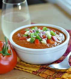 How to Make Easy Gazpacho