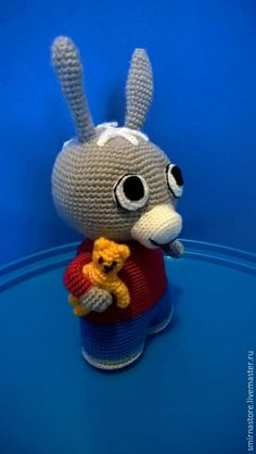Купить Ослик Тротро (ослик, ТроТро, игрушки амигуруми) - серый, тротро, Лили, ослик