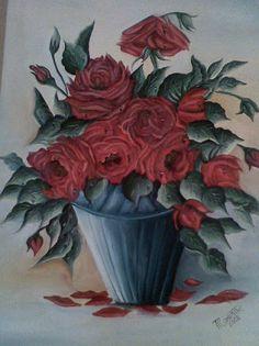 Rosas feita com hastes flexíveis(cotonetes`)